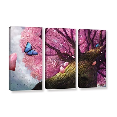 ArtWall 'In The Shadow Of Peace' 3-Piece Gallery-Wrapped Canvas Set 36