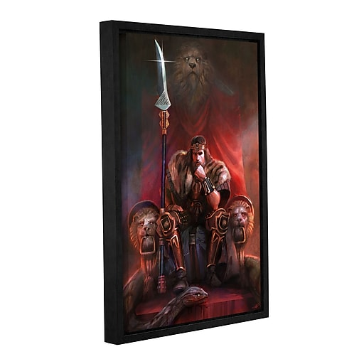"""ArtWall """"King By His Own Hand"""" Gallery-Wrapped Canvas 16"""" x 24"""" Floater-Framed (0goa007a1624f)"""