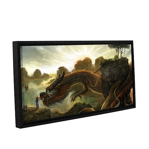 """ArtWall 'Rise' Gallery-Wrapped Floater-Framed Canvas 18"""" x 36"""" (0goa014a1836f)"""