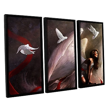 ArtWall 'Sometimes They Weep' 3-Piece Canvas Set 36