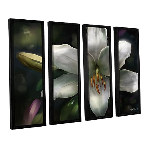 "ArtWall 'Star Gazer' 4-Piece Canvas Set 24"" x 32"" Floater-Framed (0goa018d2432f)"