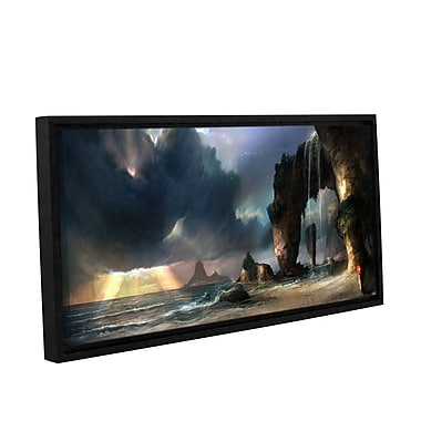 ArtWall 'The Beach' Gallery-Wrapped Floater-Framed Canvas 12