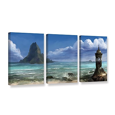 "ArtWall 'The Proposal' 3-Piece Gallery-Wrapped Canvas Set 24"" x 48"" (0goa025c2448w)"