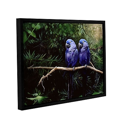 "ArtWall 'Twins' Gallery-Wrapped Canvas 18"" x 24"" Floater-Framed (0goa027a1824f)"