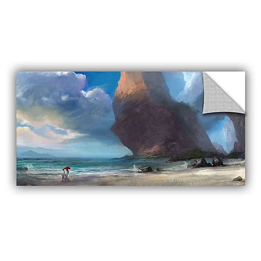 "ArtWall ""Walk On The Beach"" Removable Graphic Wall Art 18"" x 36"" (0goa031a1836p)"