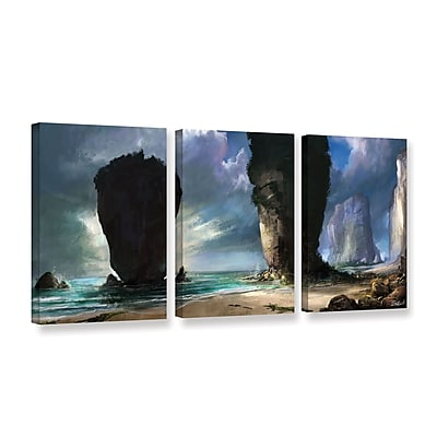 ArtWall 'Beach Front' 3-Piece Gallery-Wrapped Canvas Set 24