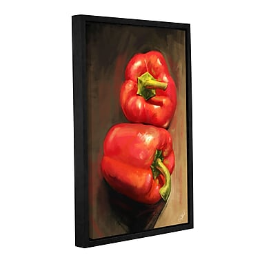 ArtWall 'Bell Peppers' Gallery-Wrapped Floater-Framed Canvas 32