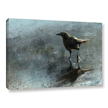 ArtWall 'Bird In A Puddle' Gallery-Wrapped Canvas 32