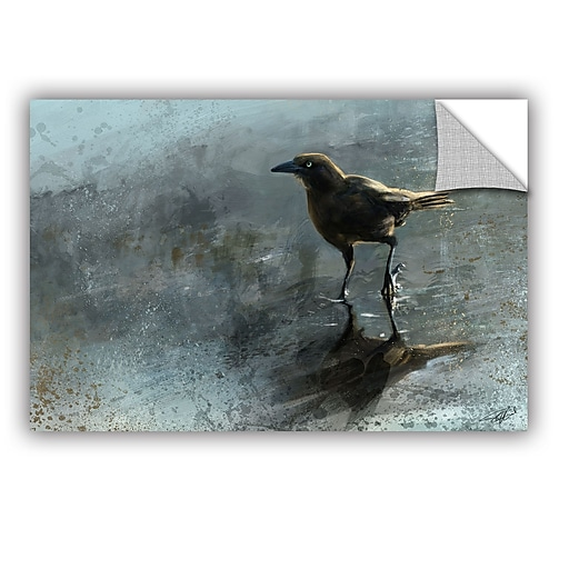 "ArtWall ""Bird In A Puddle"" Art Appeelz Removable Wall Art Graphic 12"" x 18"" (0goa041a1218p)"