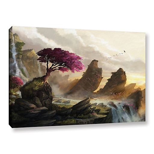 """ArtWall """"Blossom Sunset"""" Gallery-Wrapped Canvas 12"""" x 18"""" (0goa042a1218w)"""