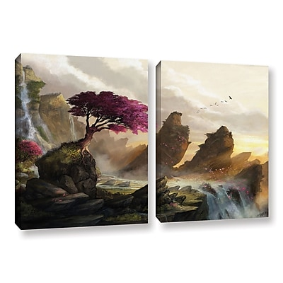 ArtWall 'Blossom Sunset' 2-Piece Gallery-Wrapped Canvas Set 32