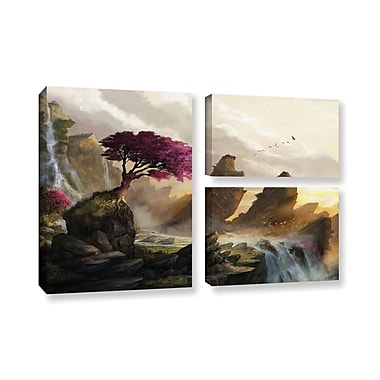 ArtWall 'Blossom Sunset' 3-Piece Gallery-Wrapped Canvas Flag Set 24