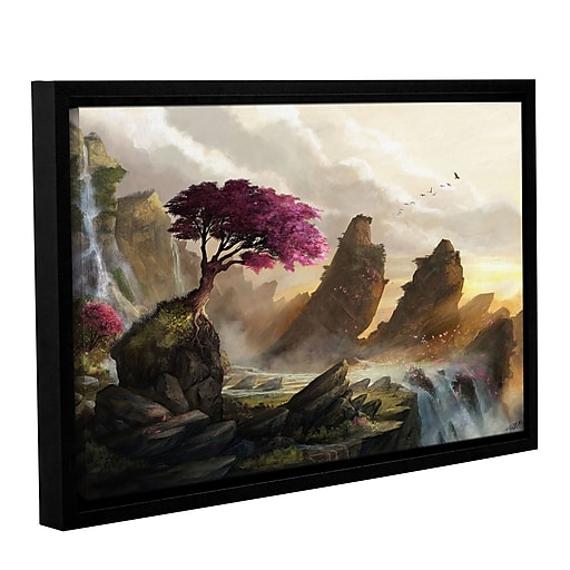 "ArtWall 'Blossom Sunset' Gallery-Wrapped Canvas 32"" x 48"" Floater-Framed (0goa042a3248f)"