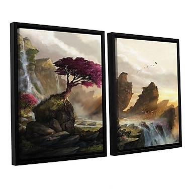 ArtWall 'Blossom Sunset' 2-Piece Canvas Set 32