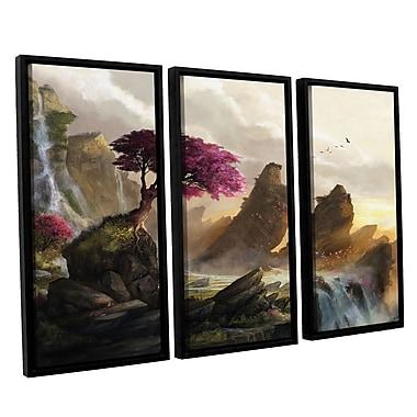 ArtWall 'Blossom Sunset' 3-Piece Canvas Set 36