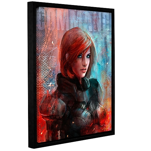 "ArtWall 'Call Me Commander' Gallery-Wrapped Canvas 36"" x 48"" Floater-Framed (0goa045a3648f)"