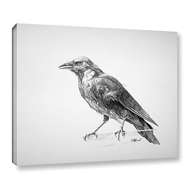 ArtWall 'Crow Drawing' Gallery-Wrapped Canvas 14