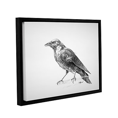 ArtWall 'Crow Drawing' Gallery-Wrapped Floater-Framed Canvas 14
