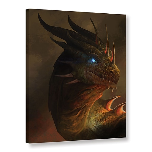 "ArtWall ""Dragon Portrait"" Gallery-Wrapped Canvas 24"" x 32"" (0goa054a2432w)"