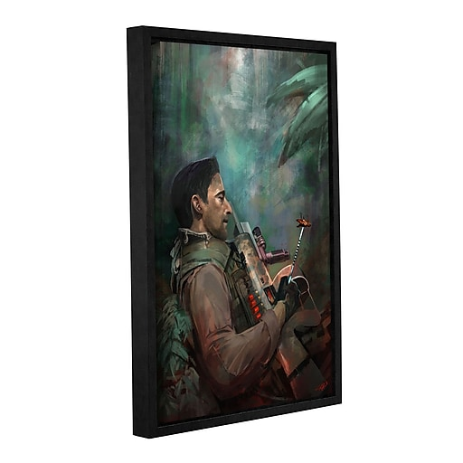 """ArtWall 'The Hunting Of Man' Gallery-Wrapped Canvas 12"""" x 18"""" Floater-Framed (0goa061a1218f)"""