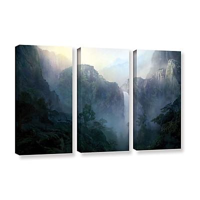 ArtWall 'Afternoon Light' 3-Piece Gallery-Wrapped Canvas Set 36