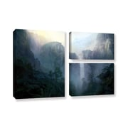 """ArtWall 'Afternoon Light' 3-Piece Gallery-Wrapped Canvas Flag Set 24"""" x 36"""" (0str002g2436w)"""
