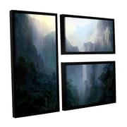 "ArtWall 'Afternoon Light ' 3-Piece Canvas Flag Set 24"" x 36"" Floater-Framed (0str002g2436f)"