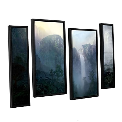 ArtWall 'Afternoon Light ' 4-Piece Canvas Staggered Set 24