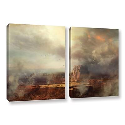 "ArtWall 'Before The Rain' 2-Piece Gallery-Wrapped Canvas Set 18"" x 28"" (0str003b1828w)"