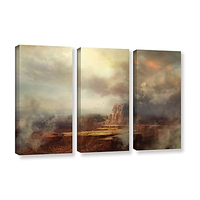 ArtWall 'Before The Rain' 3-Piece Gallery-Wrapped Canvas Set 36
