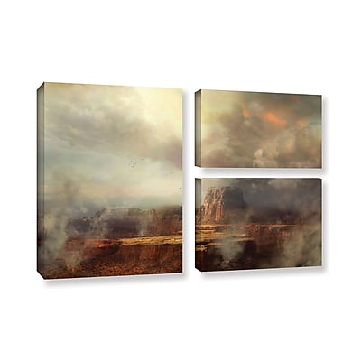 ArtWall 'Before The Rain' 3-Piece Gallery-Wrapped Canvas Flag Set 24