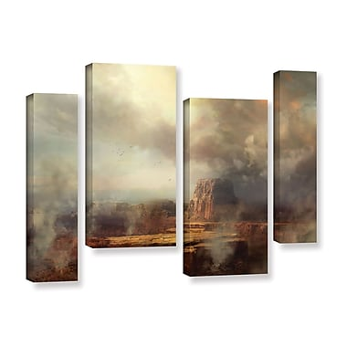 ArtWall 'Before The Rain' 4-Piece Gallery-Wrapped Canvas Staggered Set 24