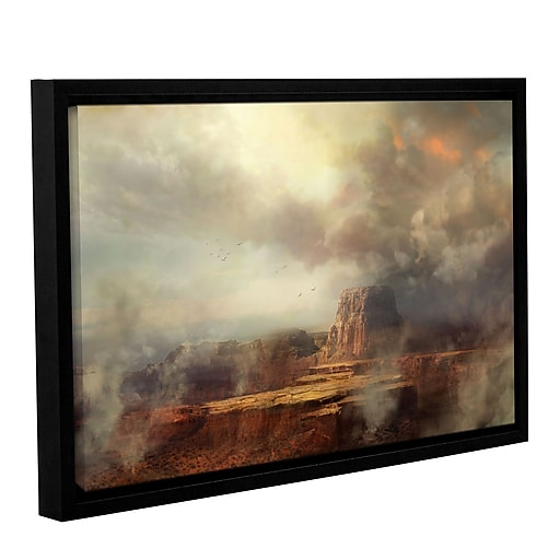"""ArtWall 'Before The Rain' Gallery-Wrapped Canvas 16"""" x 24"""" Floater-Framed (0str003a1624f)"""