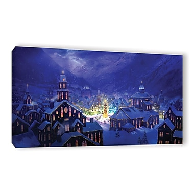ArtWall 'Christmas Town' Gallery-Wrapped Canvas 24