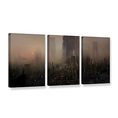 ArtWall 'Cohabitations' 3-Piece Gallery-Wrapped Canvas Set 24