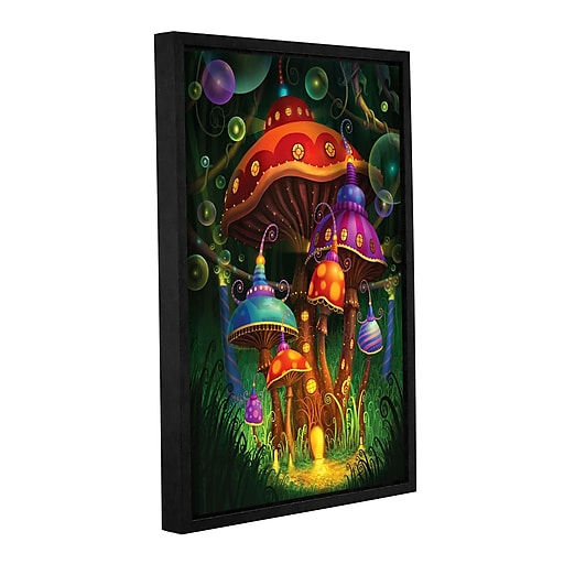 """ArtWall 'Enchanted Evening' Gallery-Wrapped Canvas 12"""" x 18"""" Floater-Framed (0str006a1218f)"""