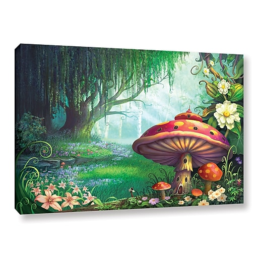 """ArtWall 'Enchanted Forest' Gallery-Wrapped Canvas 16"""" x 24"""" (0str007a1624w)"""