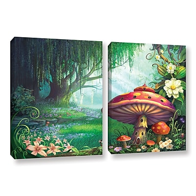 ArtWall 'Enchanted Forest' 2-Piece Gallery-Wrapped Canvas Set 32