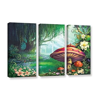 "ArtWall 'Enchanted Forest' 3-Piece Gallery-Wrapped Canvas Set 36"" x 54"" (0str007c3654w)"