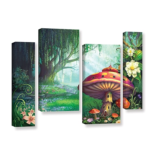 """ArtWall """"Enchanted Forest"""" 4-Piece Gallery-Wrapped Canvas Staggered Set 36"""" x 54"""" (0str007i3654w)"""