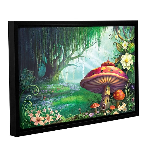 """ArtWall 'Enchanted Forest' Gallery-Wrapped Canvas 32"""" x 48"""" Floater-Framed (0str007a3248f)"""