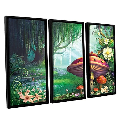 ArtWall 'Enchanted Forest' 3-Piece Canvas Set 36