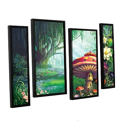 ArtWall 'Enchanted Forest' 4-Piece Canvas Staggered Set 36