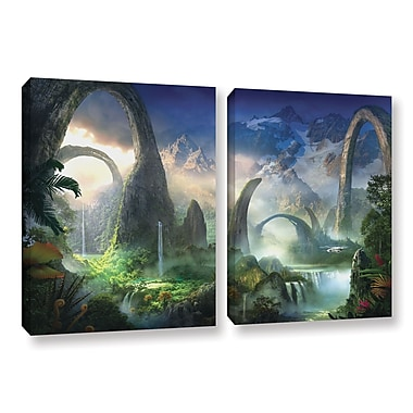 ArtWall 'Great North Road' 2-Piece Gallery-Wrapped Canvas Set 18