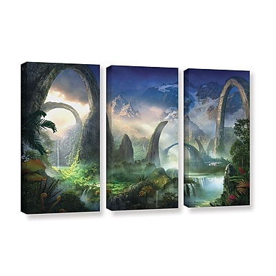 ArtWall 'Great North Road' 3-Piece Gallery-Wrapped Canvas Set 36