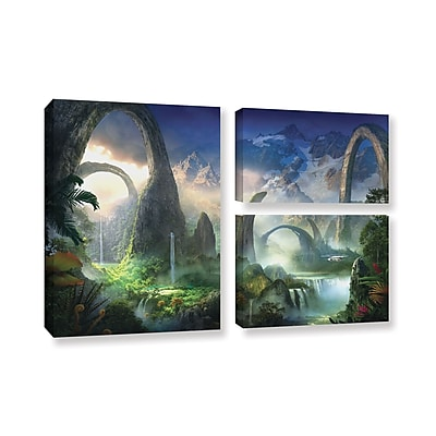 ArtWall 'Great North Road' 3-Piece Gallery-Wrapped Canvas Flag Set 24