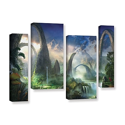 ArtWall 'Great North Road' 4-Piece Gallery-Wrapped Canvas Staggered Set 24