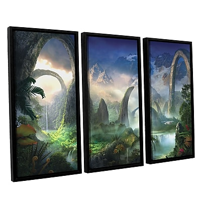 ArtWall 'Great North Road' 3-Piece Canvas Set 36