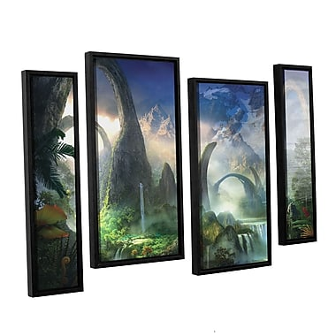 ArtWall 'Great North Road' 4-Piece Canvas Staggered Set 36