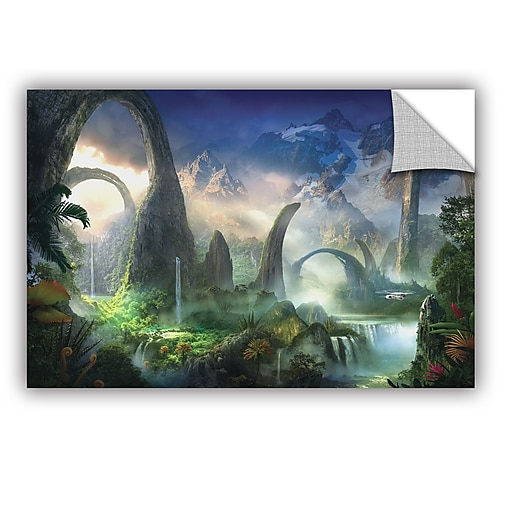 """ArtWall 'Great North Road' Art Appeelz Removable Wall Art Graphic 32"""" x 48"""" (0str008a3248p)"""
